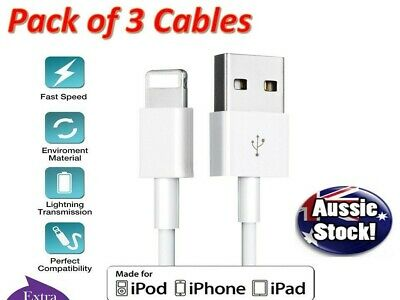 AU8.98 • Buy 3 X Fast Charge USB Cable Charger For Apple IPhone 7 8 6s IPad X XS 12 Cord Lead