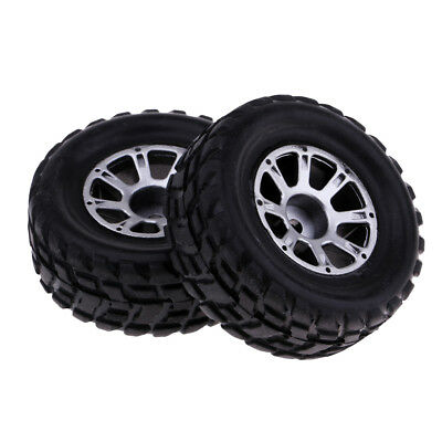 2x 1:18 Scale Left Tire Tyres Black For Wltoys A949 RC Truck Buggy Body Part • 5£