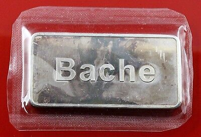Old Rare Bache  Fine Silver Bar 1oz  Ingot Uncirculated • 42.86£