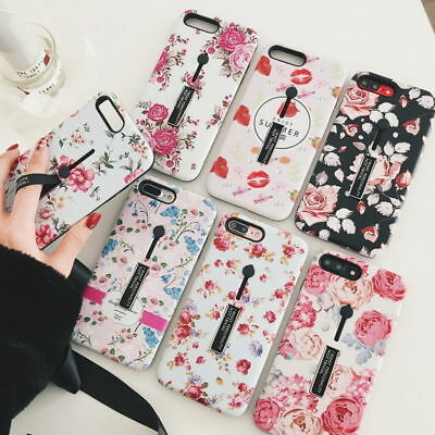 AU6.12 • Buy Retro Rose Flower Ring Holder Stand Hard Case For IPhone 11 Pro XS Max XR 6/7/8+
