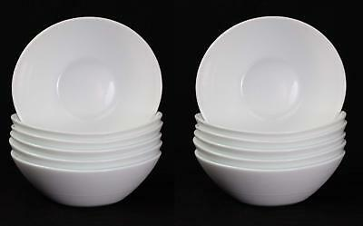 Oval Shaped Prometeo Breakfast / Dessert / Ice Cream Bowls In White (6 Pieces) • 16.65£