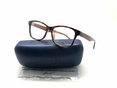 4a5948bed3a0 Lacoste L2774-210-54 Women s Brown Frame Clear Lens Genuine Eyeglasses •  49.97