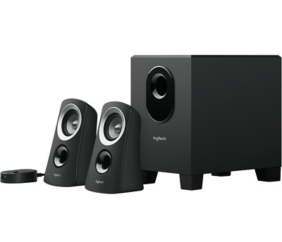 AU99.95 • Buy BRAND NEW Logitech Z313 SPEAKER SYSTEM WITH SUBWOOFER Rich Balanced Sound