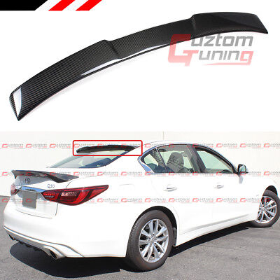 $142.99 • Buy For 2014-2020 Infiniti Q50 Vip M Style Carbon Fiber Rear Roof Window Spoiler