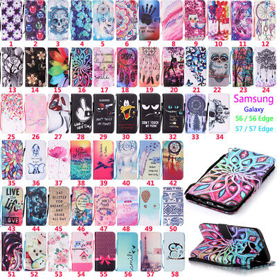 $ CDN6.04 • Buy  For Samsung S7 S7 Edge Flip Wallet Leather Magnetic Card Stand Phone Case Cover