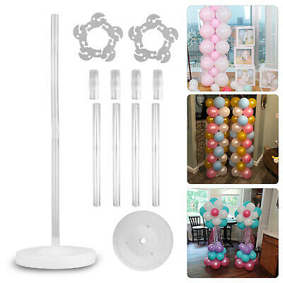 $11.47 • Buy Large Balloon Arch Set Column Stand Base Frame Kit Birthday Wedding Party Decor