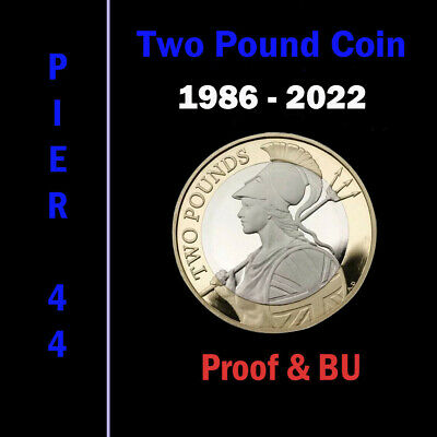1986-2020 UK £2 Two Pound Coins PROOF & BU Brilliant Uncirculated, Select Option • 10.75£