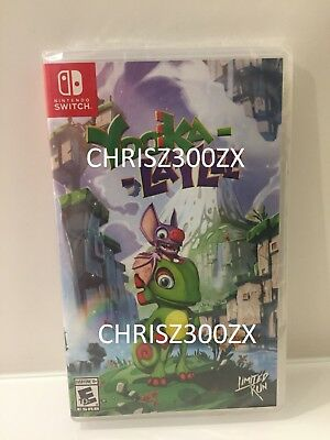 AU119 • Buy Limited Run Yooka-Laylee Nintendo Switch Alternate Exclusive Varaint Cover USA