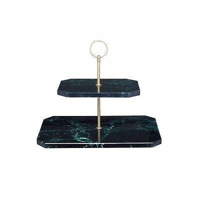 2Tier Marble Serving Stand, Christmas Cake Stand, Food Display Buffet,Gift Boxed • 32.99£