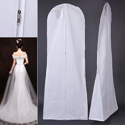 Extra Large Wedding Dress Bridal Gown Garment Breathable Cover Storage Bag White • 6.64£