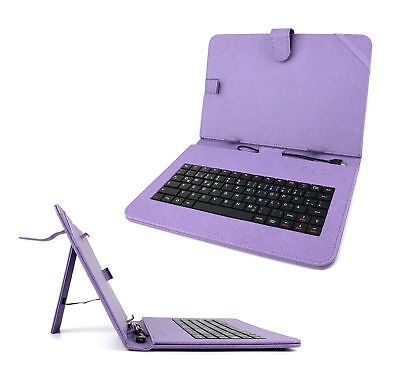 Purple PU Leather German Keyboard Case For Samsung Galaxy Tab S 10.5 /Note 10.1 • 15.99£
