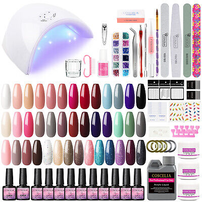 AU22.99 • Buy Complete Acrylic Nail Art Kit Liquid Clear White Pink Powder Primer DIY AU Post