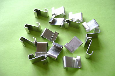 Greenhouse Glazing Polished Aluminum Z Clips Choose From 5 To 500 • 3.80£