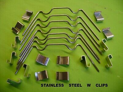 MIXED PACKS OF W And Z GLAZING GREENHOUSE CLIPS YOU CHOOSE FROM 20 TO 500  • 5.50£