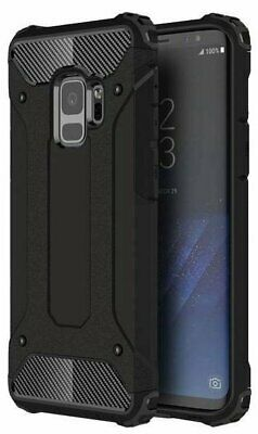 $ CDN9.81 • Buy Black Armour Case For Samsung Galaxy S9 Hybrid Shock Proof Back Cover