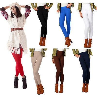 £4.99 • Buy New Womens Ladies Winter Fleece Thermal Warm Thick Full Length Leggings Colours