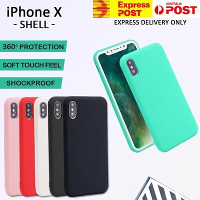 AU2.95 • Buy Apple IPhone X Xs Case Genuine Ultra Thin Fit Slim Soft Gel Silicone Case Cover
