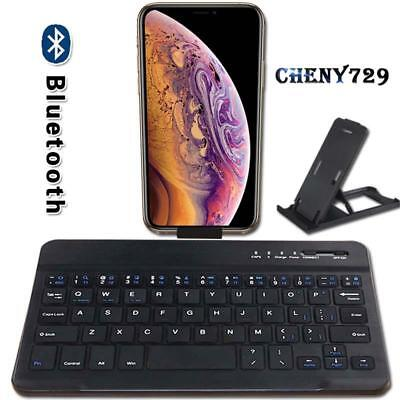 £8.99 • Buy For Apple IPhone 45678 Plus X XS Max XR Slim Wireless Bluetooth Keyboard + Stand