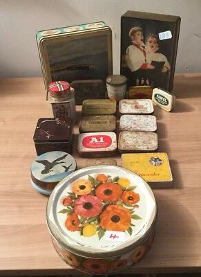 Large Collection Of Vintage Tins Tobacco Sweets Biscuits • 19.95£