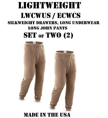 $18.95 • Buy LOT Of 2 US MILITARY POLYPRO THERMAL UNDERWEAR LWCWUS ECWCS SILKWEIGHT XL PANTS
