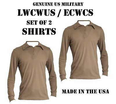$18.95 • Buy LOT Of 2 US MILITARY POLYPRO THERMAL UNDERWEAR LWCWUS ECWCS SILKWEIGHT S SHIRT