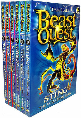 Beast Quest Series 3 - 6 Books Young Adult Collection Paperback By Adam Blade • 11.28£