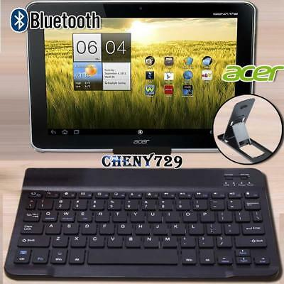 For Acer Iconia 10.1  Tablet Slim Wireless Bluetooth Keyboard + Stand Holder • 9.99£
