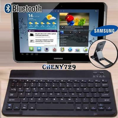 For 10  12  Samsung Galaxy Tab Tablet Wireless Bluetooth Keyboard + Stand Holder • 9.99£