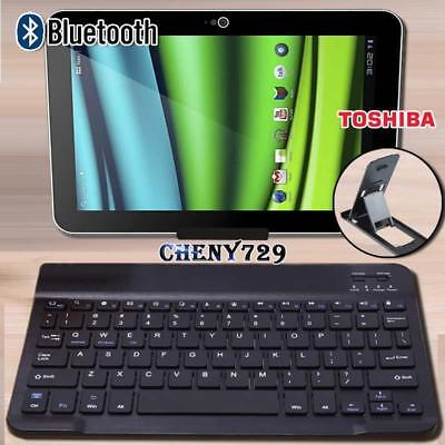 For 10  11  12  Toshiba Excite/Encore Tablet Wireless Bluetooth Keyboard + Stand • 9.99£