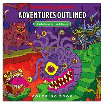 AU28.84 • Buy D&D Adventures Outlined 5th Edition Coloring Book Monster Manual 1