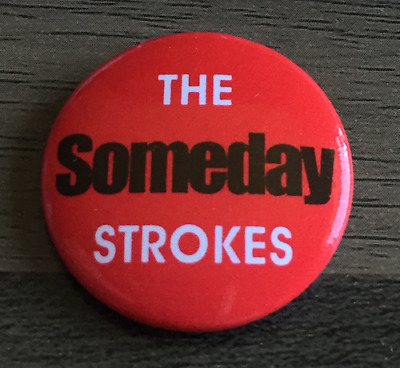 The Strokes Logo 25mm Indie Pop Keyring Button Badge with Zip Pull Option