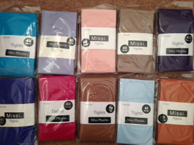 Missi 40 Denier Tights One Size 36-42  Various Colours New FREE P&P • 2.99£