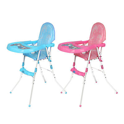 Lovely Non-Slip Baby Feeding High Chair Foldable Children Infant Boy Blue Pink • 23.69£