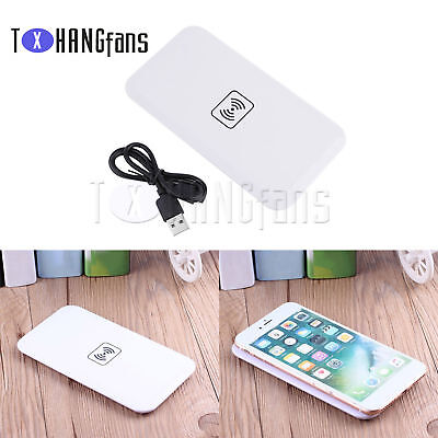 Portable Qi Wireless Charger Charging Pad Dock Mat Plate IPhone Universal ATF • 1.36£