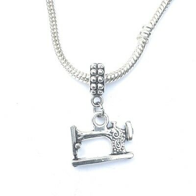 $8.99 • Buy Silver Tailor Sewing Machine Charm For European And American Charm Bracelet.