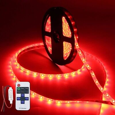 $14.99 • Buy Wireless Waterproof LED Strip Light 16ft For Boat / Truck / Car/ Suv / Rv Red