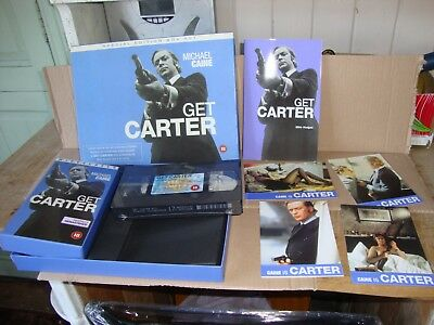Get Carter Special Edition Box Set Vhs / Screenplay / Art Cards Rare Collectors • 79.99£