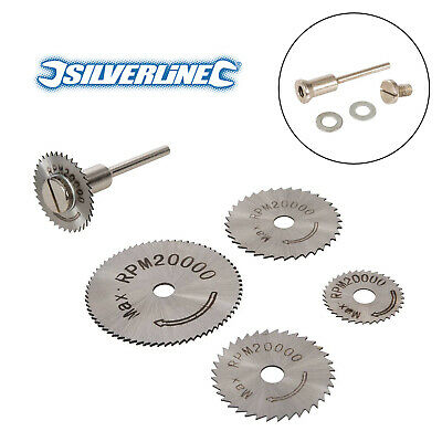 Silverline HSS Saw Disc Set For GMC/Dremel Rotary Tools Cuts Copper Wood Plastic • 5.45£