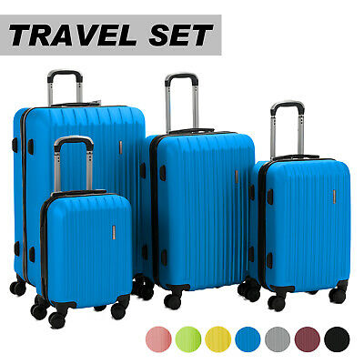 View Details Luggage Travel Set Bag ABS Trolley 360° Spinner Carry On Suitcase With Lock • 83.90$