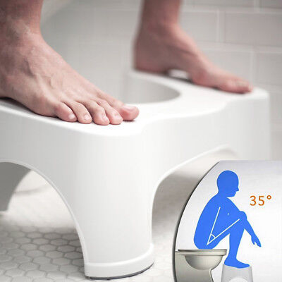 Toilet Stool Step Natural Position Squatty Potty Constipation Aid Piles Relief • 11.89£