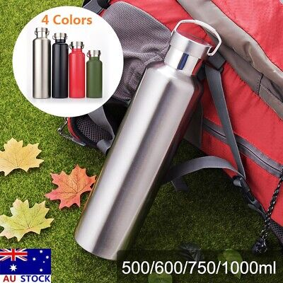 AU28.37 • Buy Stainless Steel Double Walled Vacuum Insulated Water Bottle 500/600/750/1000ml