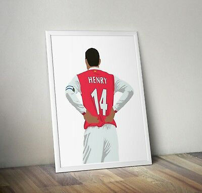 £6.99 • Buy Thierry Henry, Arsenal, Print, Poster, Wall Art, Gift, Home Decor