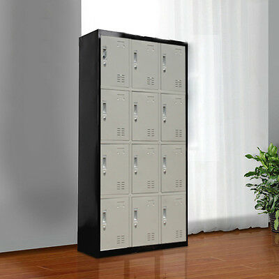AU199.99 • Buy Band New 12 Door Storage Lockers Office Gym Shed Home Furniture Cabinet GST Incl