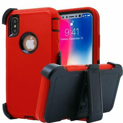 AU18.51 • Buy Defender Case IPhone 11 7 6 6s 8 XS Cover Belt Clip Fits Otterbox | Red Black