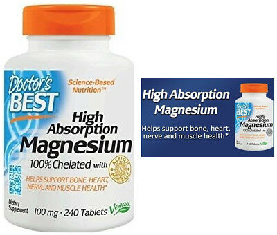 £14.86 • Buy High Absorption MAGNESIUM GLYCINATE 100% Chelated VEGAN 240CT Doctor's Best