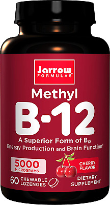 JARROW FORMULAS METHYL B12 Methylcobalamin 5000 Mcg 60 Lozenges • 14.62£