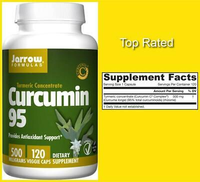 TURMERIC Concentrate CURCUMIN 95 Antioxidant Support 500mg 120 CT JARROW FORMULA • 19.41£