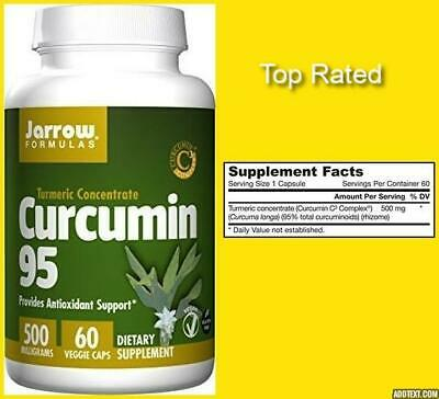 TURMERIC Concentrate CURCUMIN 95 Antioxidant Support 500mg 60 CT JARROW FORMULA • 12.31£