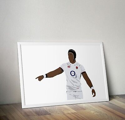 £18.99 • Buy Maro Itoje, Rugby Union, Print, Poster, Prints, Posters, Wall Art, Gift, Gifts