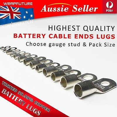 AU15.99 • Buy Copper Terminals Cable Lugs For 2.5mm - 150mm 13AWG - 4/0AWG Ga Heavy Duty Rings